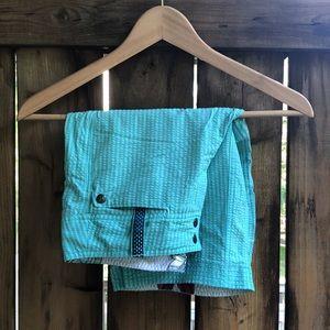LULULEMON Adventure shorts blue green size 4